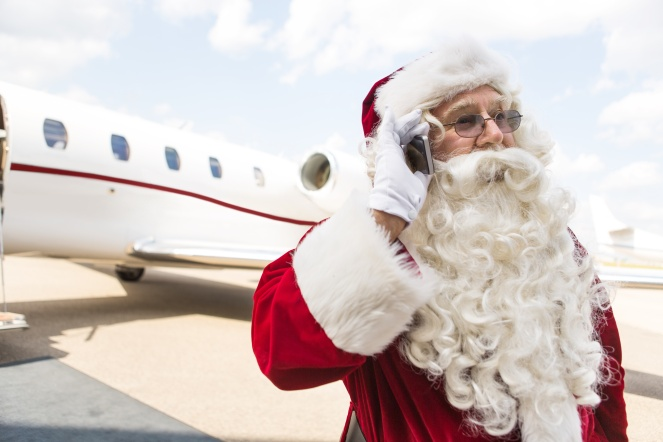 Santa Claus and Private Jet