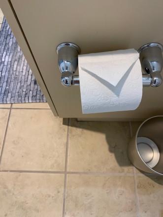 folder toilet paper