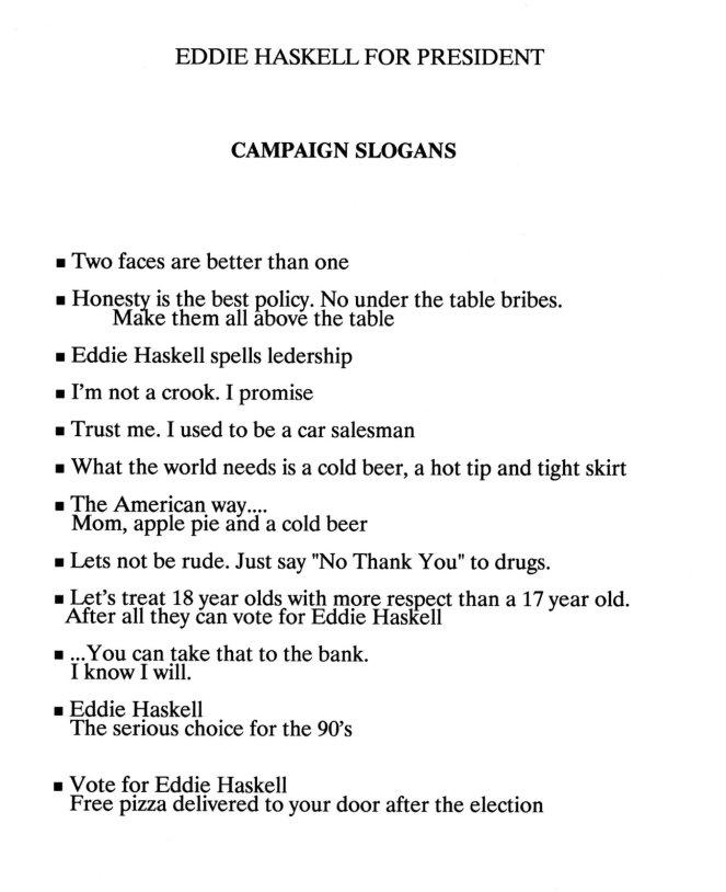 EHP Campaign Slogans